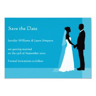 Ahorre las siluetas de la novia y del novio de la invitación 8,9 x 12,7 cm