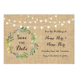 Ahorre las tarjetas florales del banquete de boda invitación 8,9 x 12,7 cm