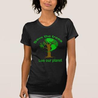 ahorre los árboles camisetas