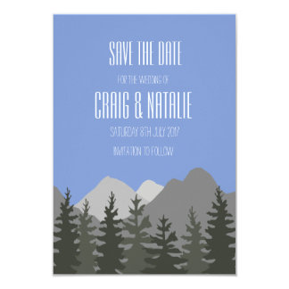 Ahorre los árboles y las montañas de la invitación
