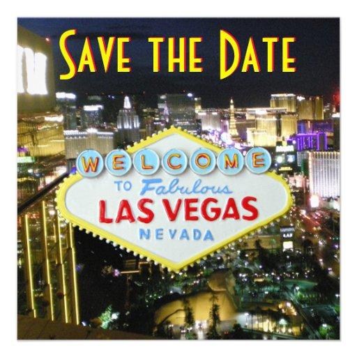 Ahorre los bodas de Las Vegas de la fecha Invitación