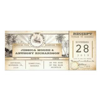 ahorre los boletos de la fecha - invitaciones del invitación 10,1 x 23,5 cm