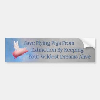 Ahorre los cerdos del vuelo pegatina para coche