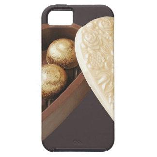 Ahorre los corazones del chocolate de la fecha iPhone 5 funda