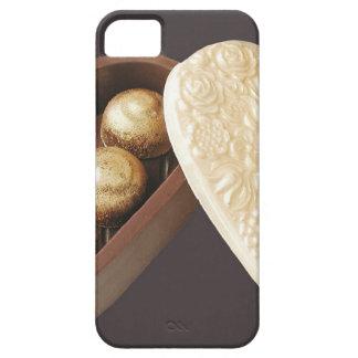 Ahorre los corazones del chocolate de la fecha iPhone 5 cárcasas