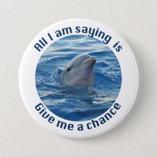 Ahorre los delfínes del botón de la extinción