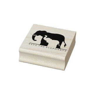 Ahorre los elefantes sello de caucho