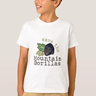 Ahorre los gorilas de montaña camiseta