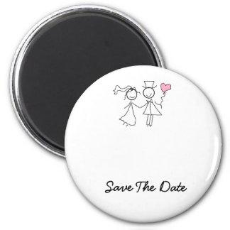 Ahorre los imanes del boda de la fecha iman de nevera