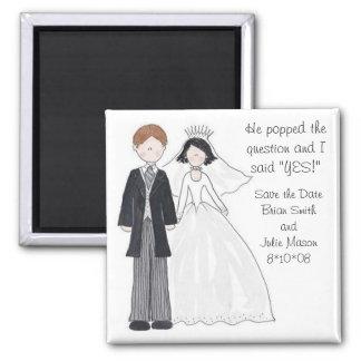 Ahorre los imanes del boda de la fecha