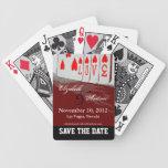 Ahorre los naipes 1 del amor de la fecha barajas de cartas
