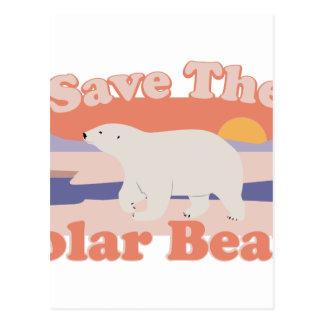Ahorre los osos polares postal