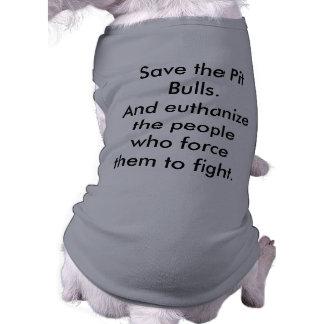 ¡Ahorre los pitbulls! Camiseta Sin Mangas Para Perro