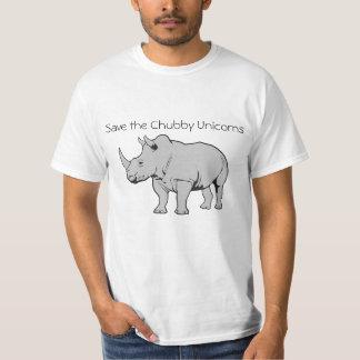 Ahorre los unicornios rechonchos camiseta