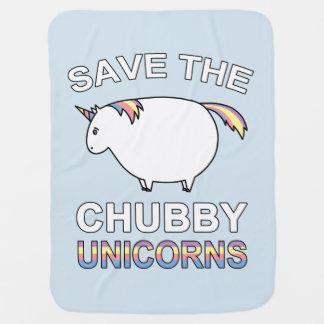 Ahorre los unicornios rechonchos mantita para bebé