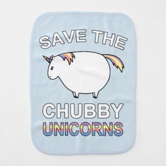Ahorre los unicornios rechonchos paño para bebés