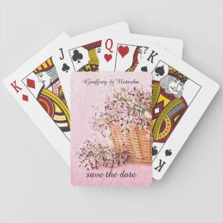 Ahorre los wildflowers de la fecha en cesta barajas de cartas