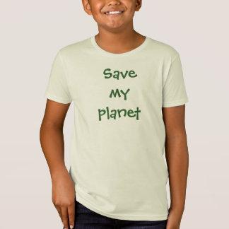 Ahorre mi camiseta del planeta