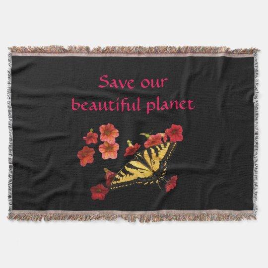 Ahorre nuestra mariposa del planeta en la manta