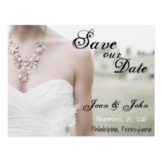 Ahorre nuestra postal del vestido de boda de la