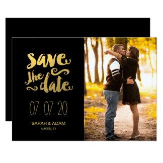 Ahorre nuestra reserva de la foto de la fecha el   invitación 12,7 x 17,8 cm