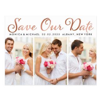 Ahorre nuestras fotos subiós boda de la escritura postal