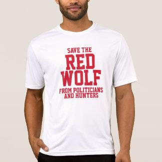 Ahorre nuestro lobo rojo en peligro camiseta