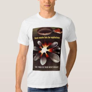 Ahorre para los explosivos camisetas
