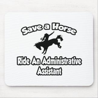 Ahorre un caballo, monte a un ayudante administrat alfombrilla de ratón