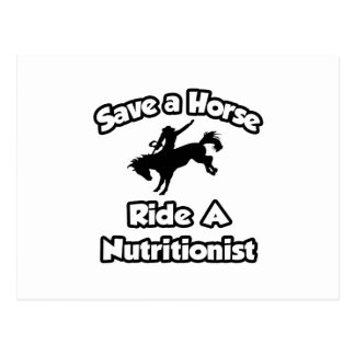 Ahorre un caballo, monte a un nutricionista postal