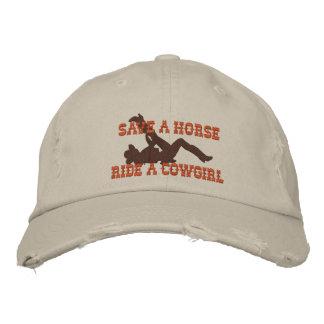 ¡Ahorre un paseo del caballo… una vaquera! Gorra Bordada