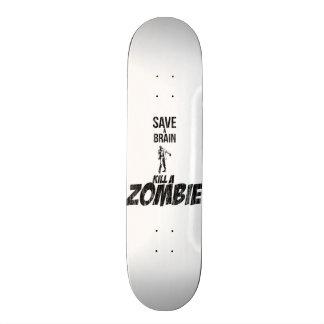 Ahorre una matanza del cerebro un zombi tabla de skate