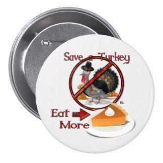 Ahorre una Turquía comen más ACCIÓN DE GRACIAS de Pin