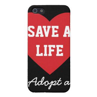 Ahorre una Vida-Adopción un mascota del refugio iPhone 5 Cárcasas