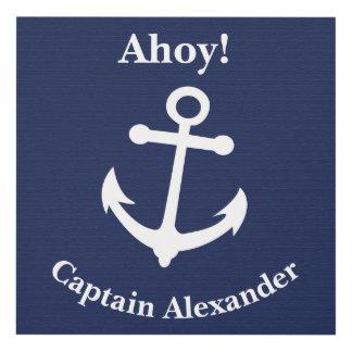 Ahoy decoración náutica de la pared del cuarto de
