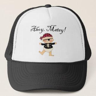 Ahoy gorra afable del pirata del bebé