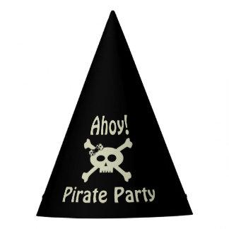 ¡Ahoy! Gorra lindo del papel del fiesta del pirata