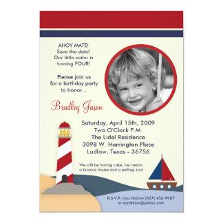 Ahoy invitación de la fiesta de cumpleaños del