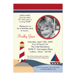 Ahoy invitación de la fiesta de cumpleaños del bar