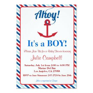 Ahoy invitación náutica de la fiesta de bienvenida