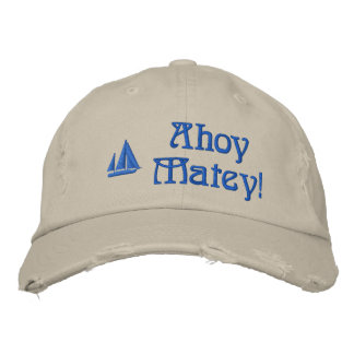 Ahoy los marineros afables bordaron el gorra gorras de beisbol bordadas