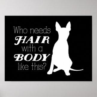 """AHT """"quién necesita el pelo?"""" Poster"""