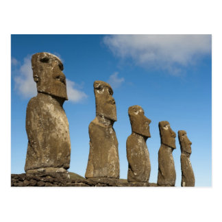 Ahu Akivi, Rapa Nui, isla de pascua, Chile 2 Postal