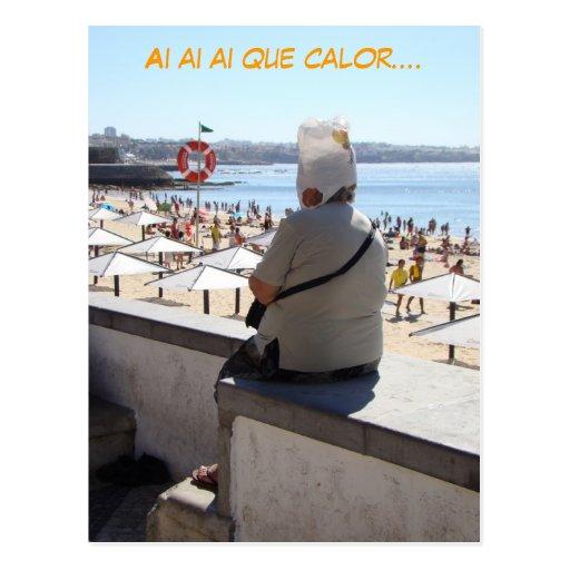 Ai ai ai Que Calor (español, espanol) divertido Postal