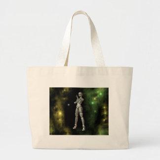 aikobot y estrellas bolsa tela grande