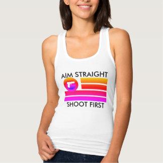 AIM de las mujeres DERECHO TIRA PRIMERO Camiseta Con Tirantes
