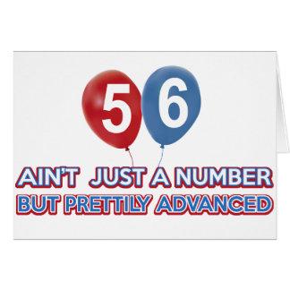 aint 56 apenas un número tarjeta de felicitación