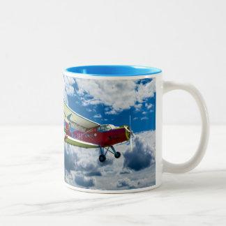 Aircraft Mug Taza De Café De Dos Colores