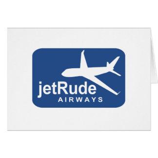 Aire grosero del jet tarjeton