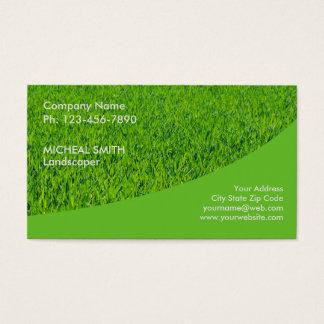 Ajardinar al jardinero del cuidado del césped tarjeta de visita